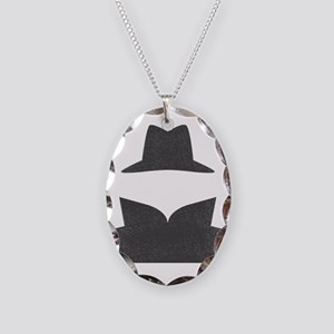 Secret Agent Spry Spy Guy Necklace Oval Charm