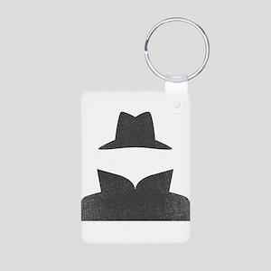 Secret Agent Spry Spy Guy Aluminum Photo Keychain