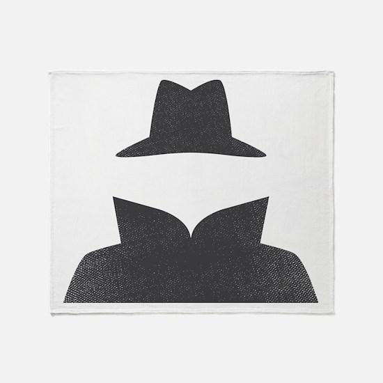Secret Agent Spry Spy Guy Throw Blanket