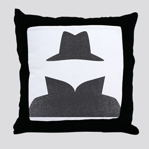 Secret Agent Spry Spy Guy Throw Pillow