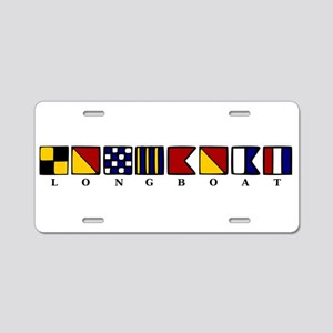 Nautical Longboat Aluminum License Plate