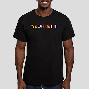 Nautical Longboat Men's Fitted T-Shirt (dark)