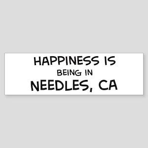 Needles - Happiness Bumper Sticker