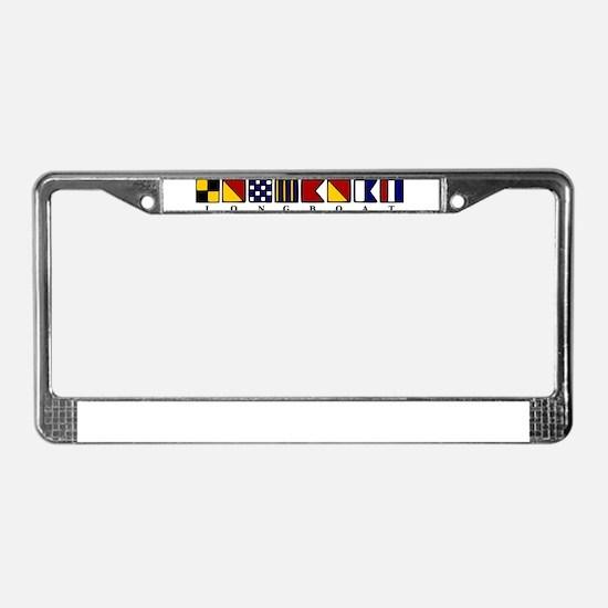 Nautical Longboat License Plate Frame