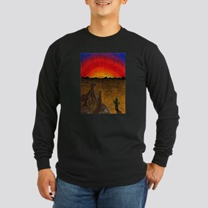 Sunset Coyote Long Sleeve Dark T-Shirt