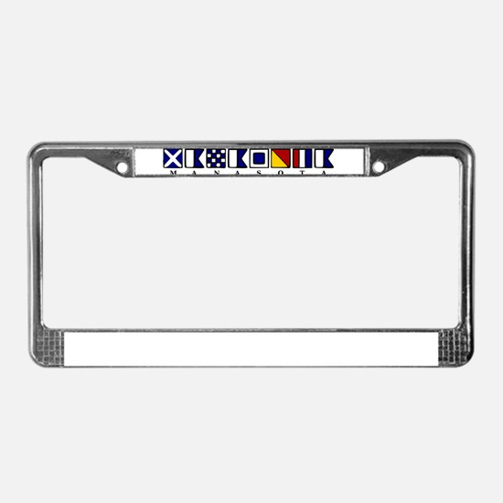 Nautical Manasota License Plate Frame