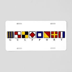 Nautical Gulfport Aluminum License Plate