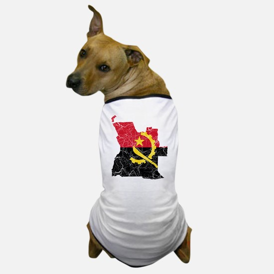 Angola Flag And Map Dog T-Shirt