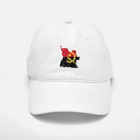 Angola Flag And Map Baseball Baseball Cap