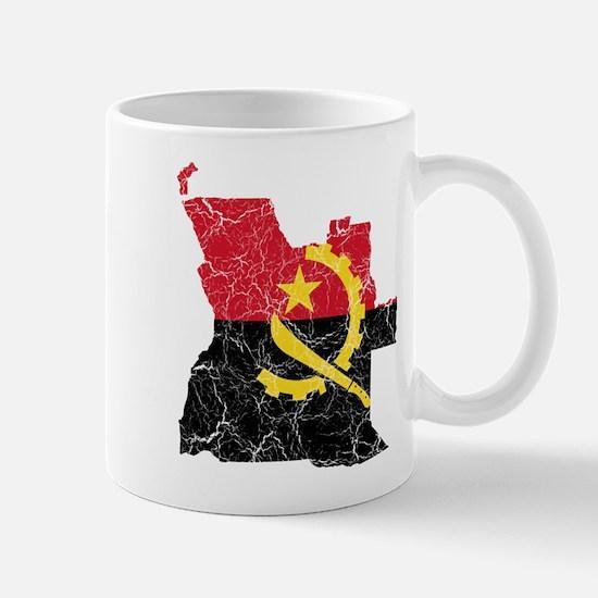 Angola Flag And Map Mug