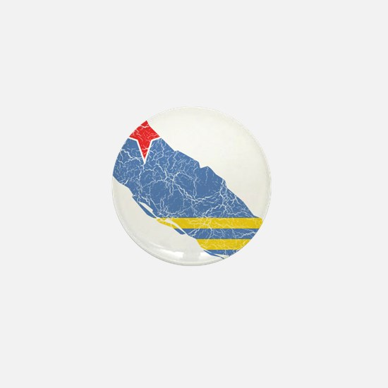 Aruba Flag And Map Mini Button