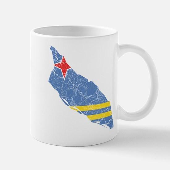 Aruba Flag And Map Mug