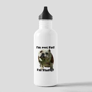 Im Not Fat Bulldog Stainless Water Bottle 1.0L