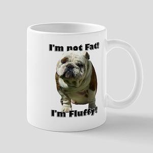 Im Not Fat Bulldog Mug