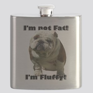 Im Not Fat Bulldog Flask