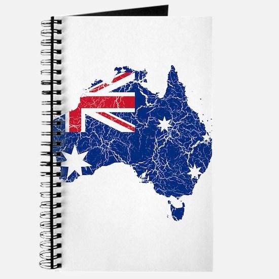 Australia Flag And Map Journal