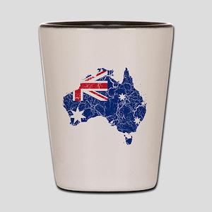 Australia Flag And Map Shot Glass