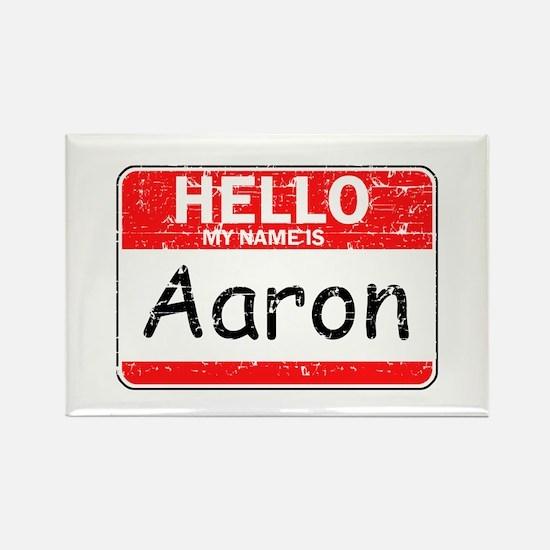 Hello My name is Aaron Rectangle Magnet