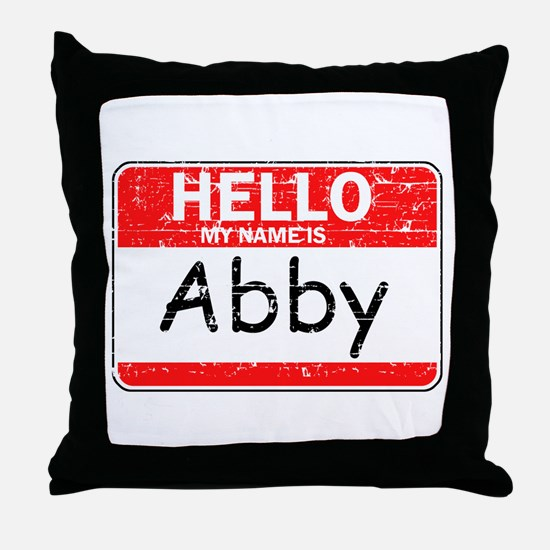 Hello My name is Abby Throw Pillow