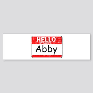 Hello My name is Abby Sticker (Bumper)
