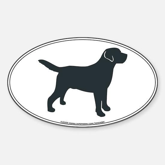 Labrador Retriever Silhouette Oval Bumper Stickers