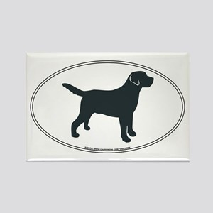Labrador Retriever Silhouette Rectangle Magnet