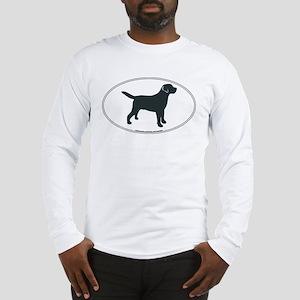 Labrador Retriever Silhouette Long Sleeve T-Shirt