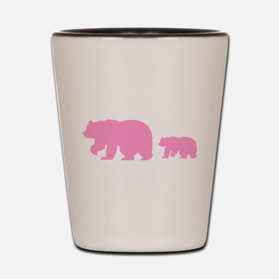 Bear Migration Icon (Pink) Shot Glass