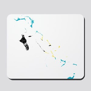 Bahamas Flag And Map Mousepad