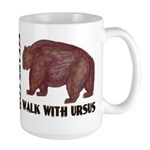 Walk with Ursus Large Mug
