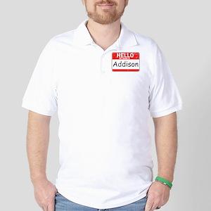 Hello My name is Addison Golf Shirt