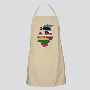 Baltic States Flag And Map Apron