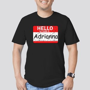 Hello My name is Adrianna Men's Fitted T-Shirt (da