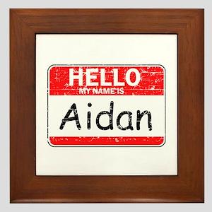 Hello My name is Aidan Framed Tile