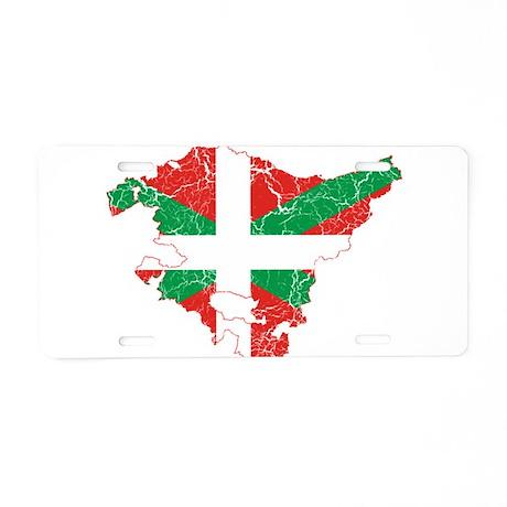 Basque Community Flag And Map Aluminum License Pla
