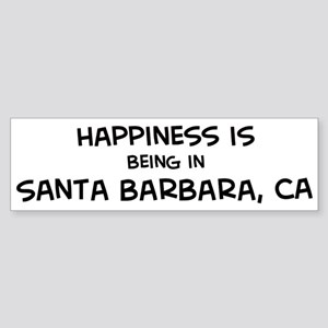 Santa Barbara - Happiness Bumper Sticker
