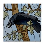 Crow in Tree - Tile Coaster