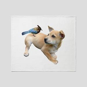 Puppy Jay Throw Blanket