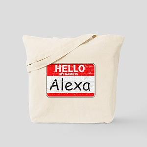 Hello My name is Alexa Tote Bag