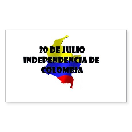 Indepencia de Colombia Sticker (Rectangle)