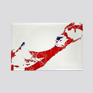 Bermuda Flag And Map Rectangle Magnet