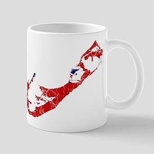 Bermuda Flag And Map Mug