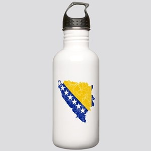 Bosnia And Herzegovina Flag And Map Stainless Wate