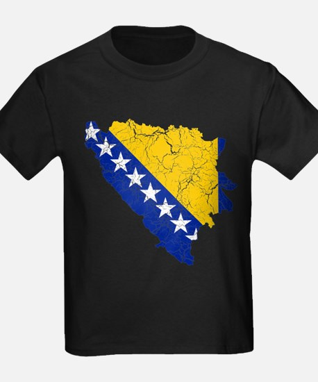 Bosnia And Herzegovina Flag And Map T