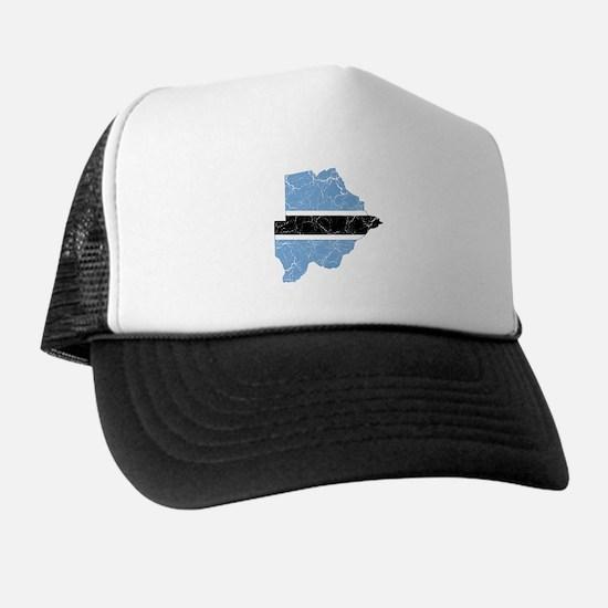 Botswana Flag And Map Trucker Hat
