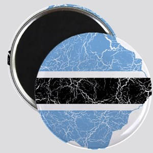 Botswana Flag And Map Magnet