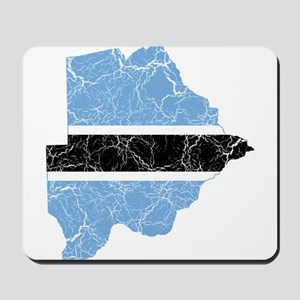 Botswana Flag And Map Mousepad