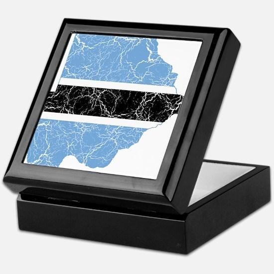 Botswana Flag And Map Keepsake Box