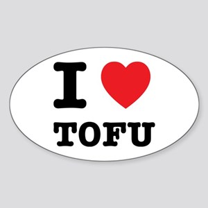 I Heart Tofu Sticker (Oval)
