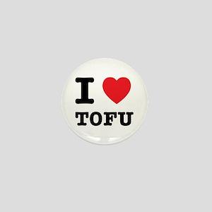 I Heart Tofu Mini Button